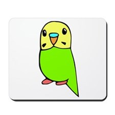 Cute Green Budgie Mousepad