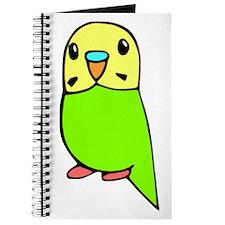 Cute Green Budgie Journal