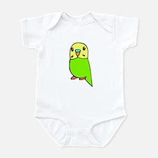 Cute Green Budgie Infant Bodysuit