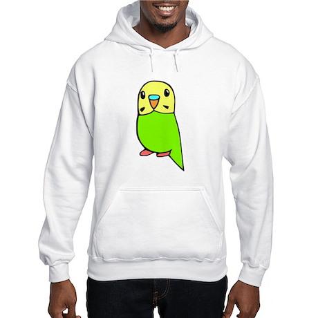 Cute Green Budgie Hooded Sweatshirt