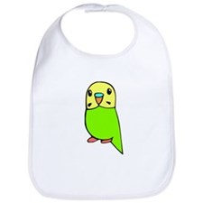 Cute Green Budgie Bib