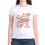 Hope Pink Ribbon Jr. Ringer T-Shirt