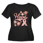 Hope Pink Ribbon Women's Plus Size Scoop Neck Dark
