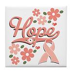 Hope Pink Ribbon Tile Coaster