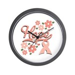 Hope Pink Ribbon Wall Clock