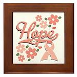 Hope Pink Ribbon Framed Tile