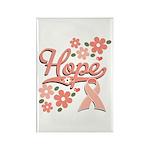 Hope Pink Ribbon Rectangle Magnet (100 pack)