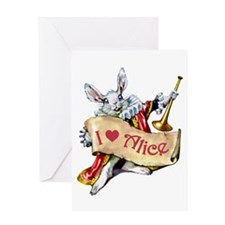 I LOVE ALICE - BLUE EYES Greeting Card