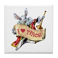 I LOVE ALICE - BLUE EYES Tile Coaster