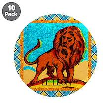 """Vintage Loteria Lion 3.5"""" Button (10 pack)"""