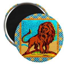 Vintage Loteria Lion Magnet