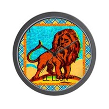Vintage Loteria Lion Wall Clock
