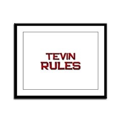 tevin rules Framed Panel Print