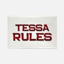 tessa rules Rectangle Magnet