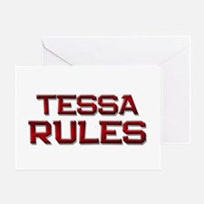 tessa rules Greeting Card