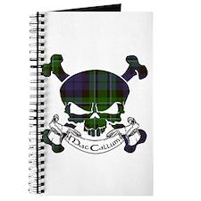 MacCallum Tartan Skull Journal