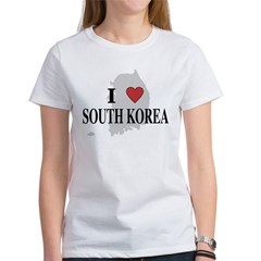 I Love South Korea Women's T-Shirt