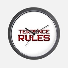 terrence rules Wall Clock