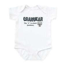 Chanukah The C Is Silent Infant Bodysuit
