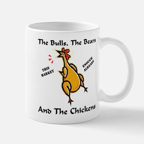 Wall St. = Bulls, Bears, & Chickens Mug