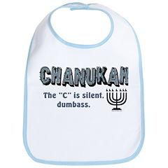 Chanukah The C Is Silent Bib