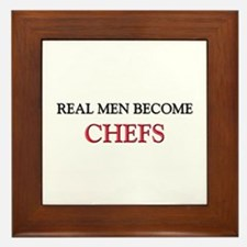 Real Men Become Chefs Framed Tile