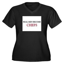Real Men Become Chefs Women's Plus Size V-Neck Dar