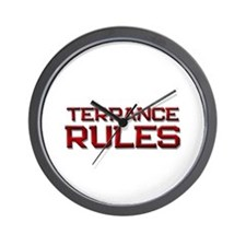 terrance rules Wall Clock