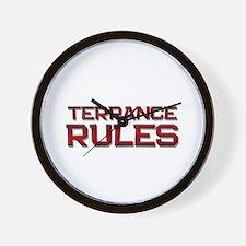 terrance rules Wall Clock