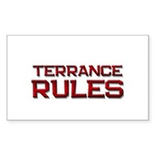 terrance rules Rectangle Decal