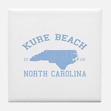 Kure Beach NC Tile Coaster