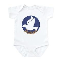 SHALOM Dove Infant Bodysuit