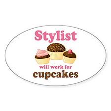 Stylist Cupcake Oval Decal