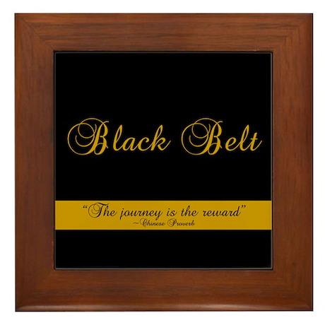 Black Belt Journey Framed Tile