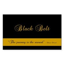 Black Belt Journey Rectangle Decal