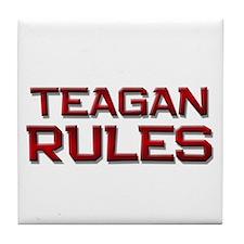 teagan rules Tile Coaster