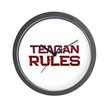 teagan rules Wall Clock