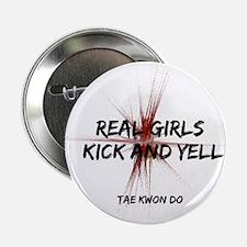 "Tae Kwon Do Girls Kick 2.25"" Button"