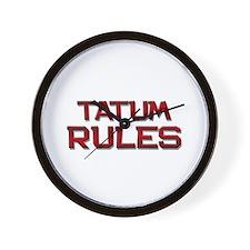 tatum rules Wall Clock