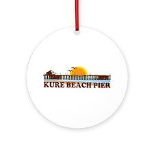 Kure Beach Pier Ornament (Round)