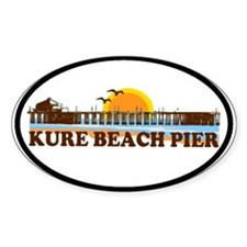Kure Beach Pier Oval Decal