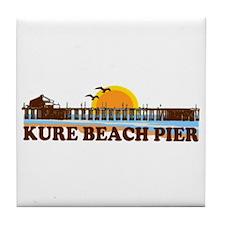 Kure Beach Pier Tile Coaster