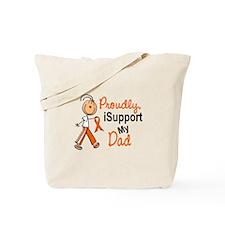 iSupport My Dad SFT Orange Tote Bag