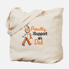 iSupport My Dad SFT Orange Tote Bag
