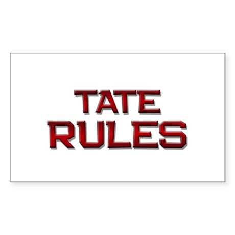 tate rules Rectangle Sticker