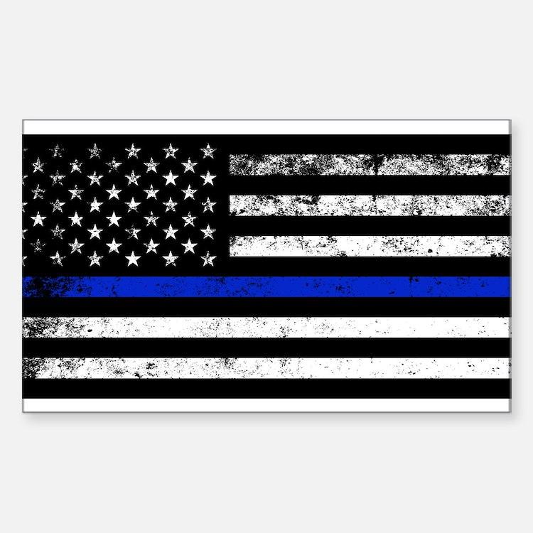 Horizontal style police flag Decal