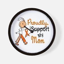 iSupport My Mom SFT Orange Wall Clock