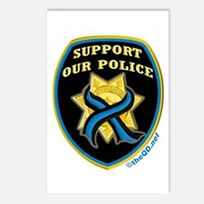 Thin Blue Line Support Police Postcards (Package o