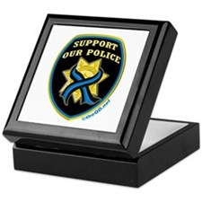 Thin Blue Line Support Police Keepsake Box