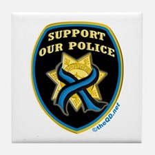 Thin Blue Line Support Police Tile Coaster